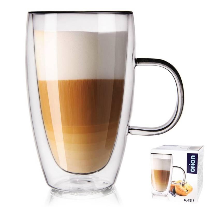 Szklanka termiczna z podwójną ścianką do kawy, 0,43