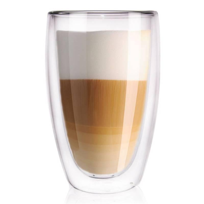 Szklanka termiczna z podwójną ścianką do kawy, latte, herbaty, 0,45 l