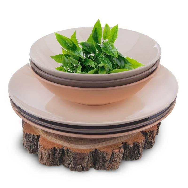 Talerz obiadowy, głęboki, ceramiczny, 20,5 cm, 0,85 l, kremowy