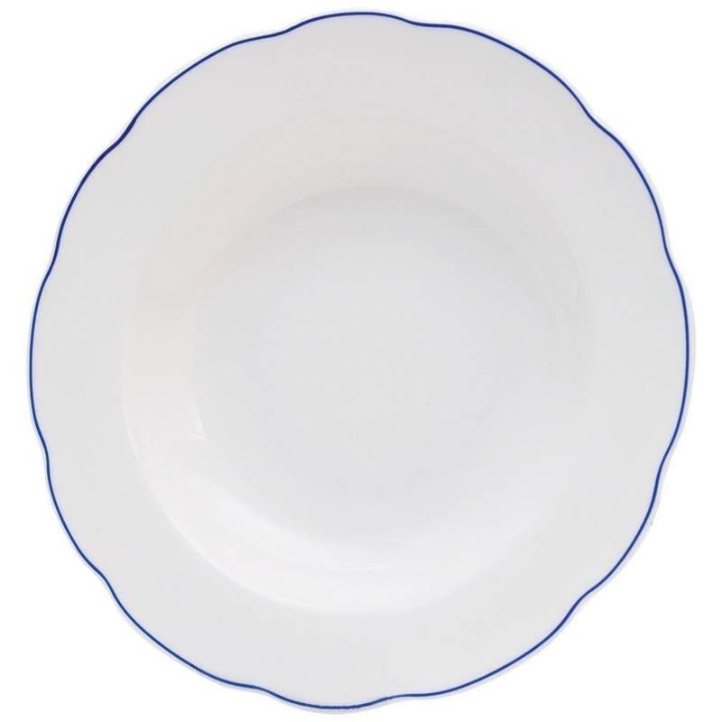 Talerz porcelanowy głęboki obiadowy BLUE LINE