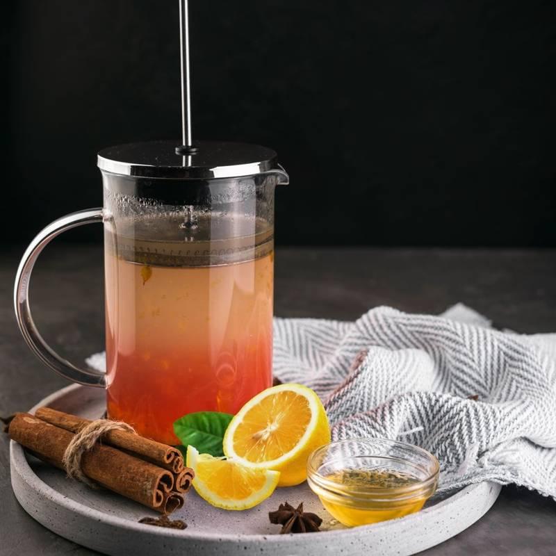 Zaparzacz imbryk DZBANEK szklany z tłokiem do kawy herbaty ziół 0,35L