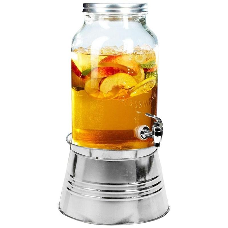 Borcan, borcan cu robinet, robinet, pentru băutură, limonadă, cu suport, suport, 3 l