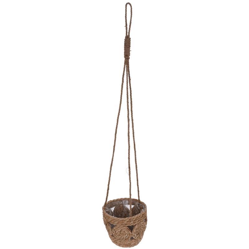 Ghiveci de flori, carcasă suspendată țesută, ghiveci de flori boho suspendat pentru plante, floare, 15 cm
