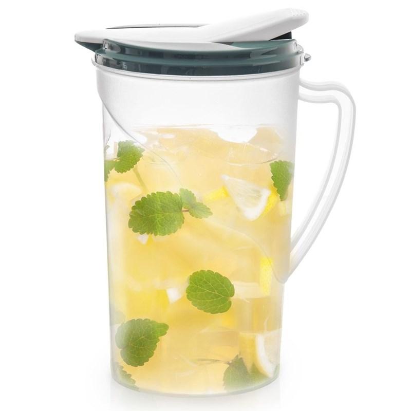 Ulcior pentru băuturi, apă, compot, limonadă, suc, 2 l, cu capac, mâner, gura de scurgere