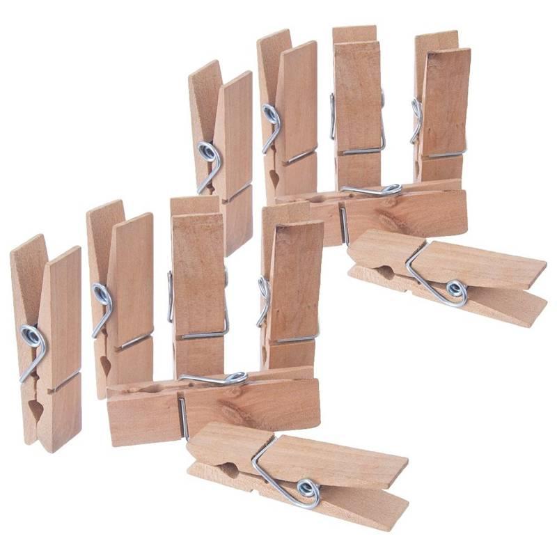 Cataramă din lemn, decorativă, set, 12 bucăți, 7,2 cm