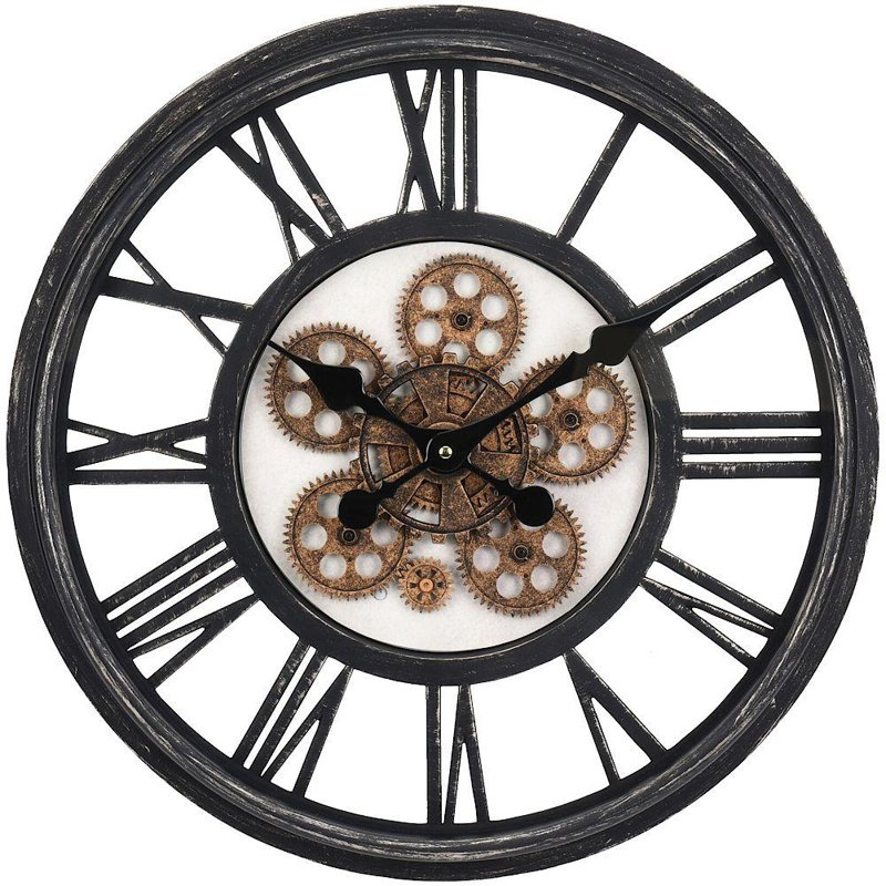 Ceas de perete, pandantiv, rotund, industrial, 50 cm, mișcare, mecanism