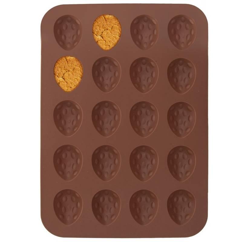 Formă de copt din silicon pentru biscuiți, alune, nuci