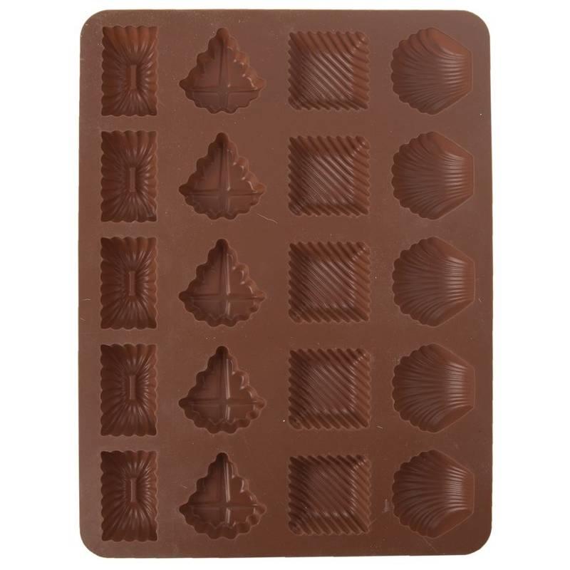 Formă de copt pentru prăjituri, praline, ciocolată, fursecuri, praline, silicon, 20 de bucăți