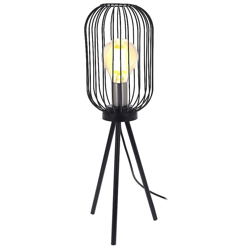 Lampă, lampă de masă, lampă de noapte, negru, metal, industrial, loft 60 cm