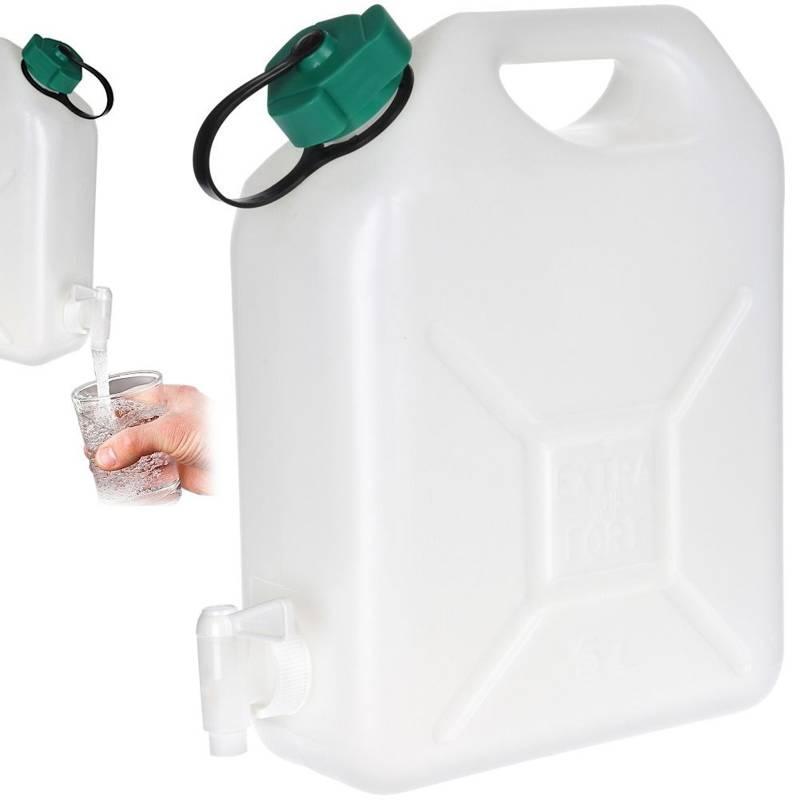 Recipient de apă, canistră, rezervor de apă, robinet, 5 l